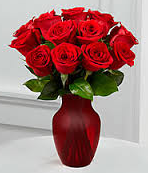 Red Roses: 1 Dozen in a Vase (Preorder for Valentine's)