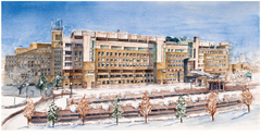 Sunnybrook Hospital - Winter, 10 pack w/ Envelopes