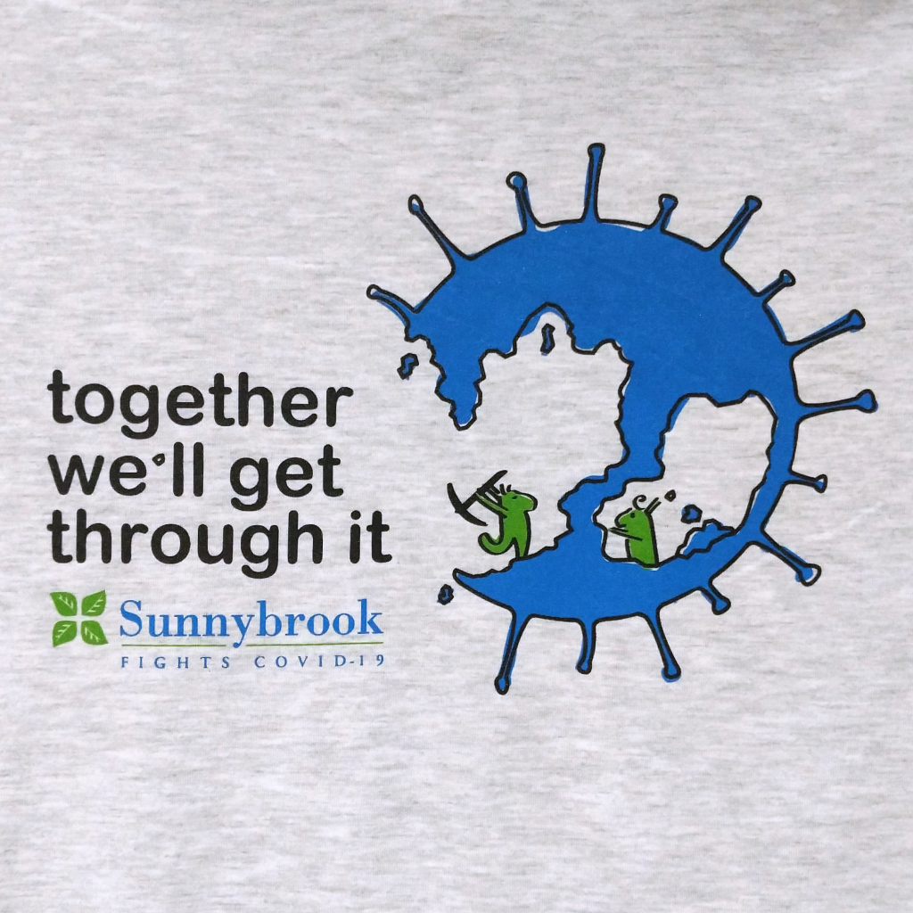 Together We'll Get Through It Shirt (Grey): Sunnybrook T-Shirt Contest Winner