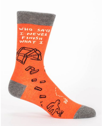 Blue Q - Who Says I Never........Men's Socks