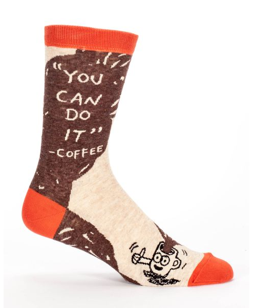 Blue Q - You Can Do It - Coffee Men's Socks