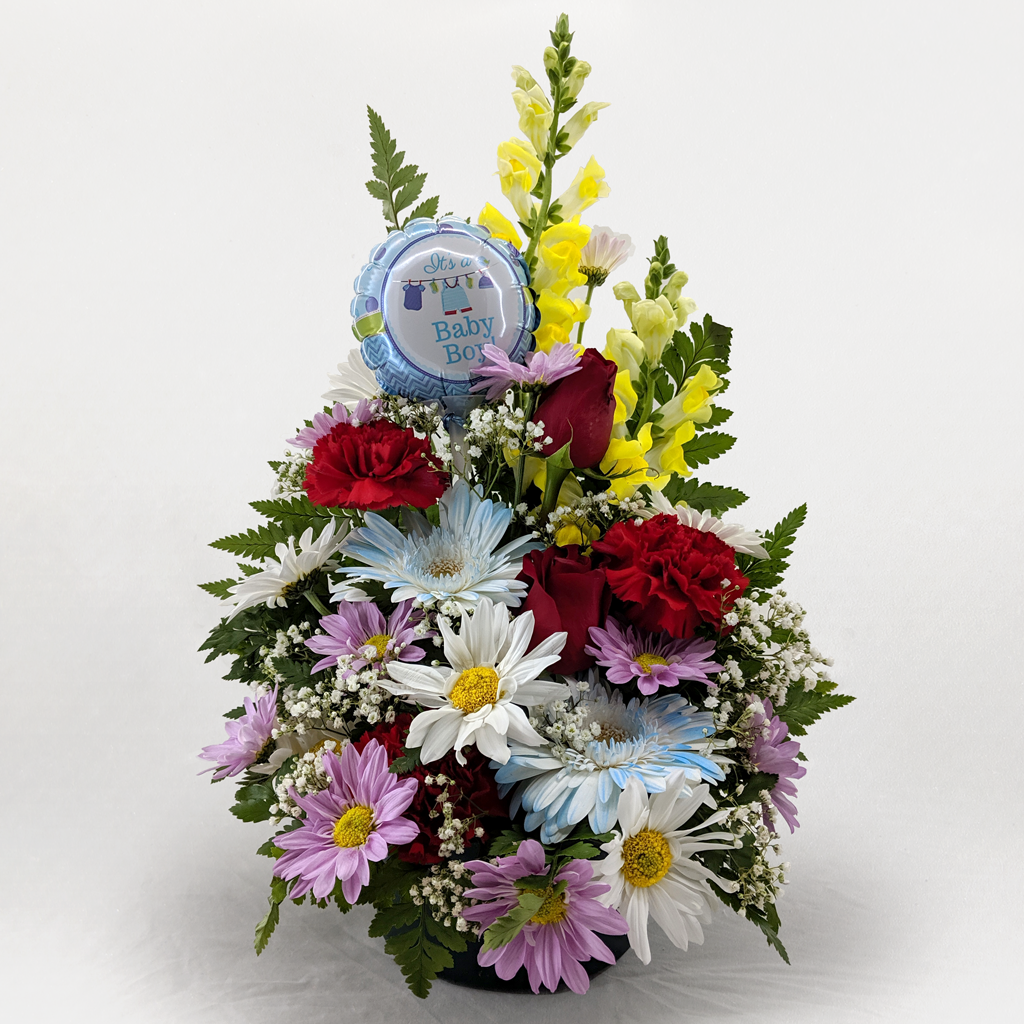 It's A Baby Boy Flower Arrangement