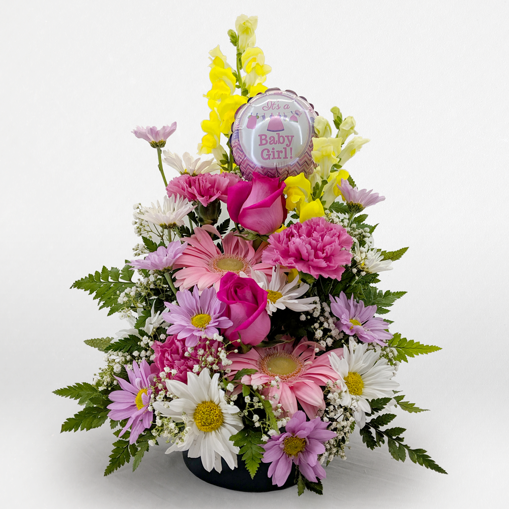 It's A Baby Girl Flower Arrangement