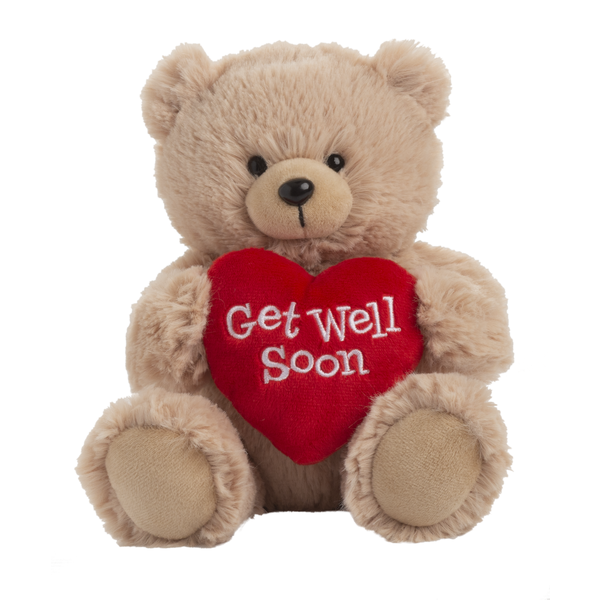 Get Well Heart Teddy Bear