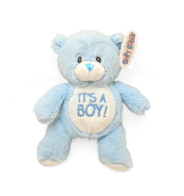 It's A Boy! Teddy Bear & Rattle
