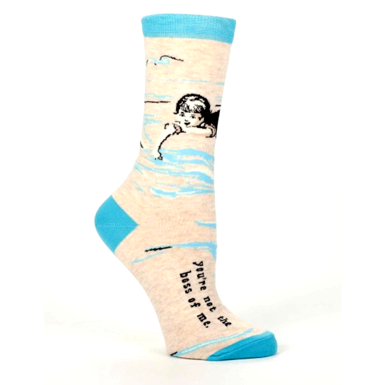 "Blue Q - ""You're Not the Boss of Me"" Socks"