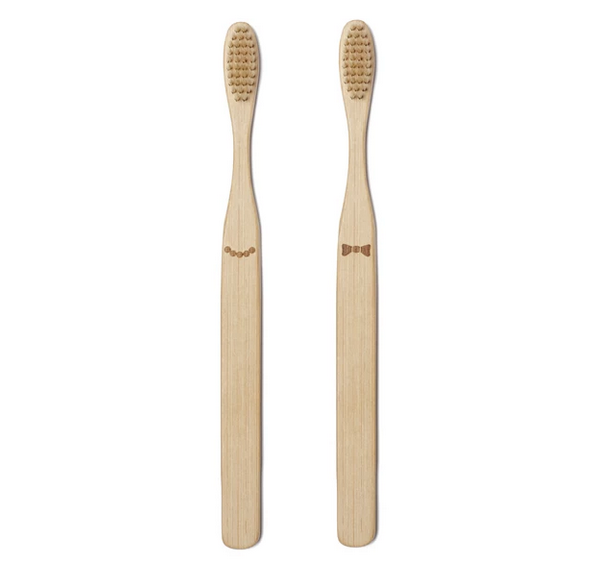 His & Hers Bamboo Toothbrush Set