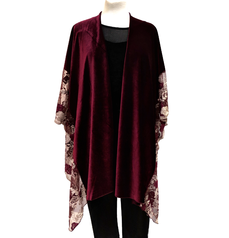 Embroidered Velvet Cape