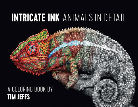 Intricate Ink: Animals in Detail Colouring Book