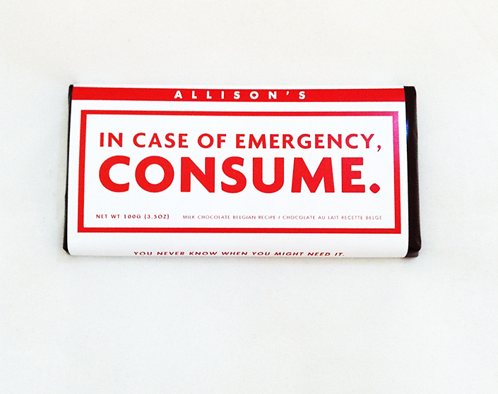 In Case of Emergency: CONSUME (Chocolate Bar)
