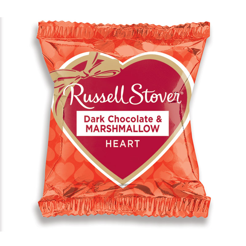 Russell Stover Dark Chocolate & Marshmallow Heart (28g)