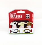 Farm Animal Erasers (3-Pack)