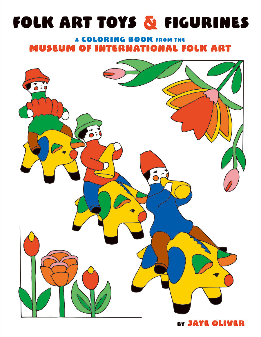 Folk Art Toys & Figurines Colouring Book