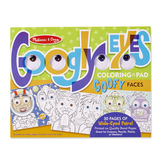 Googly Eyes: Goofy Faces Colouring Pad