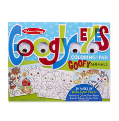 Googly Eyes: Goofy Animals Colouring Pad