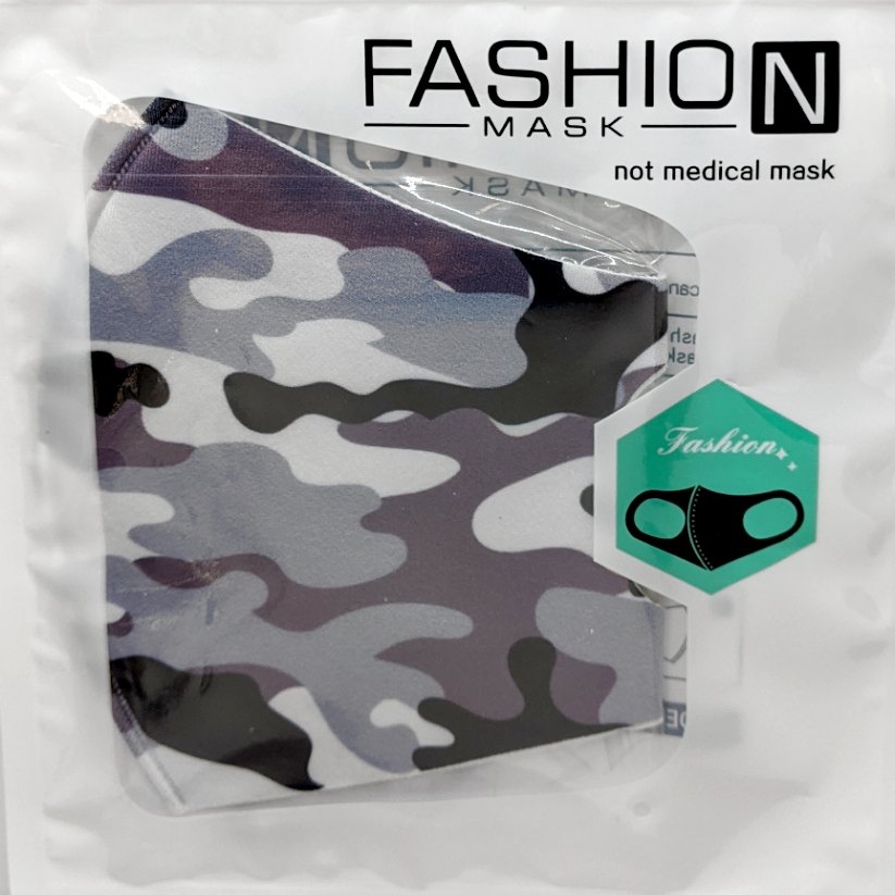 Fashion Mask: Grey Camo