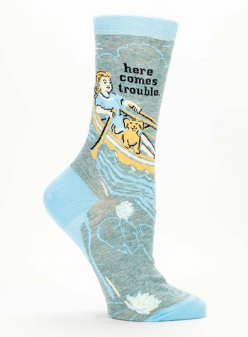 Blue Q - Here Comes Trouble Crew Socks