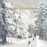 Happy Christmas Cards (Snowy)