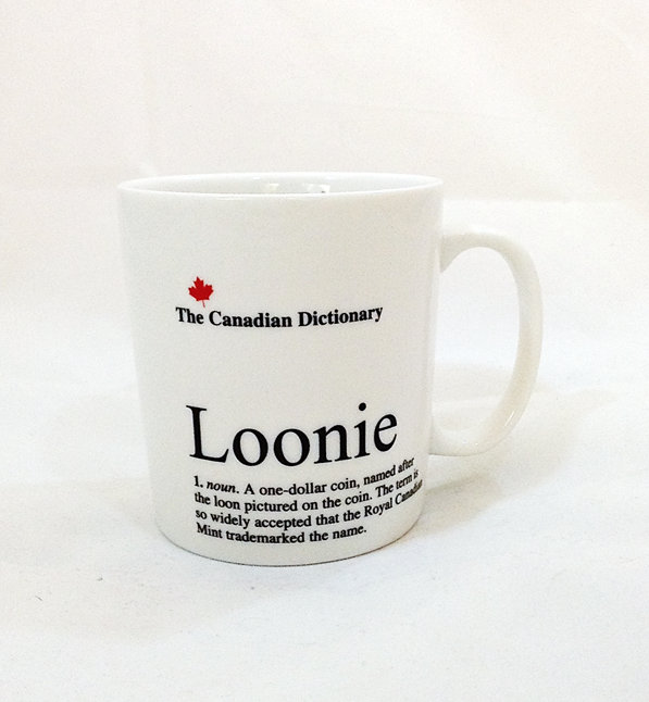 Loonie Mug (Canadian Dictionary)