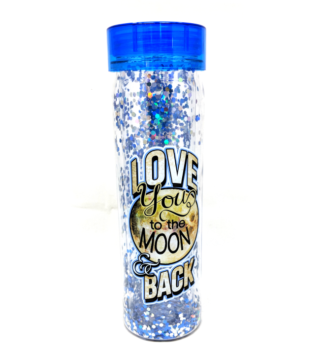 Glitter Bottle: Love You To the Moon and Back