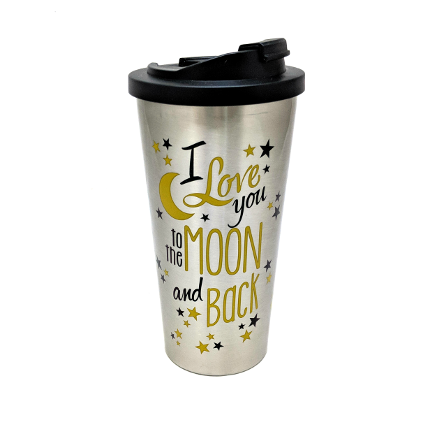 Love You To The Moon and Back (Steel Travel Mug)