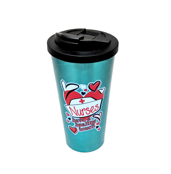 Nurses Have a Healing Touch (Steel Travel Mug)