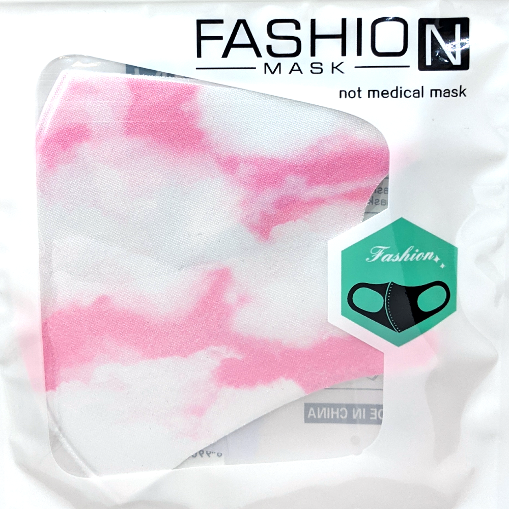 Fashion Mask: Sky Clouds (Blue or Pink)