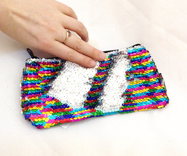 Magic Sequin Rainbow Zipper Pouch