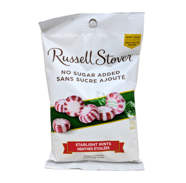 Russell Stover No Sugar Added Starlight Mints (150g)