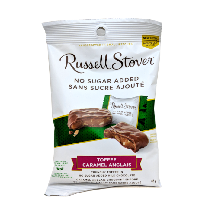 Russell Stover No Sugar Added Toffee (85g)