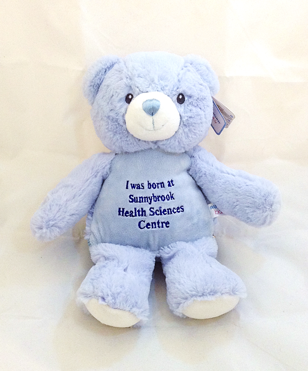 I Was Born At Sunnybrook Bear - Large Blue