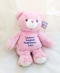 I Was Born At Sunnybrook Bear - Large Pink