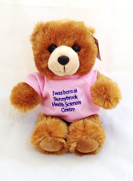 I was Born at Sunnybrook Brown Bear, Pink