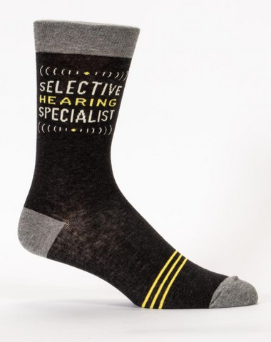 Blue Q - Selective Hearing Specialist Socks