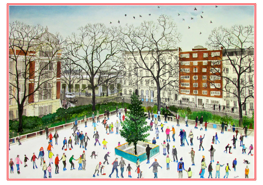 Ice Skaters Holiday Cards by Emma Haworth