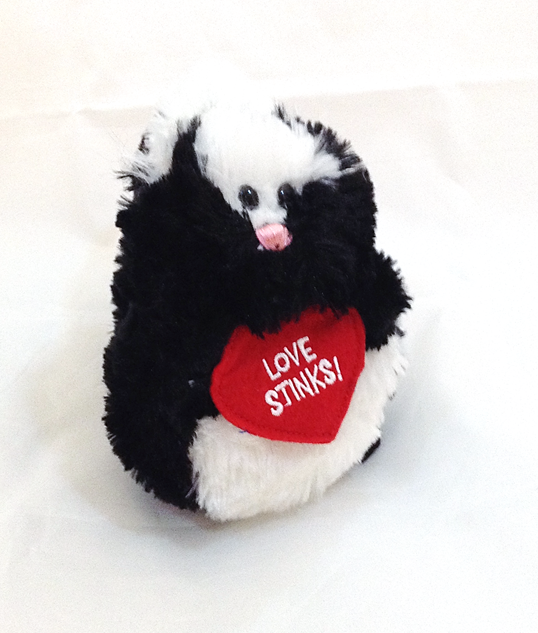"""Love Stinks"" Skunk Plush"