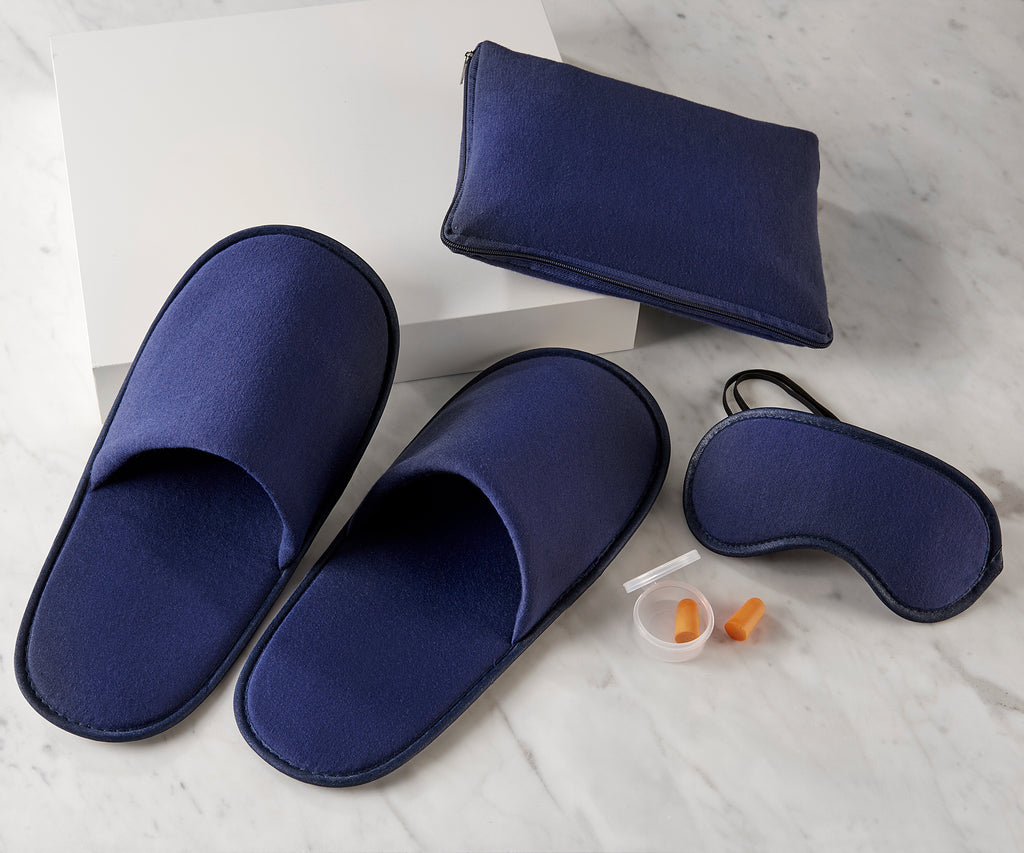 Travel Essentials Sleep Kit with Slippers