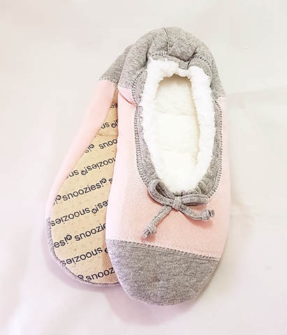 Snoozies! Slippers: ColourBlock Ballerina