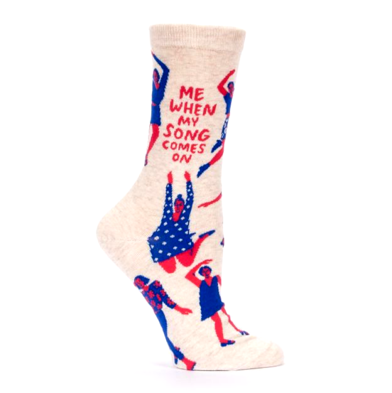 "Blue Q - ""Me When My Song Comes On"" Socks"