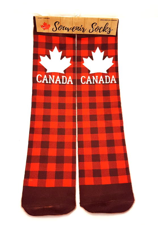 Souvenir Socks: Canada Plaid