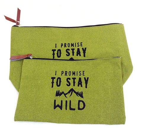 I Promise To Stay Wild Zipper Bags