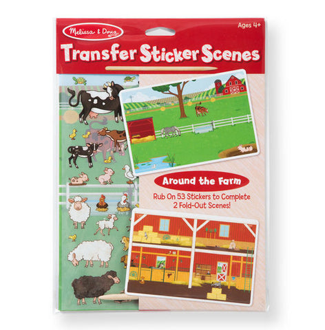 Transfer Sticker Scenes: Around the Farm