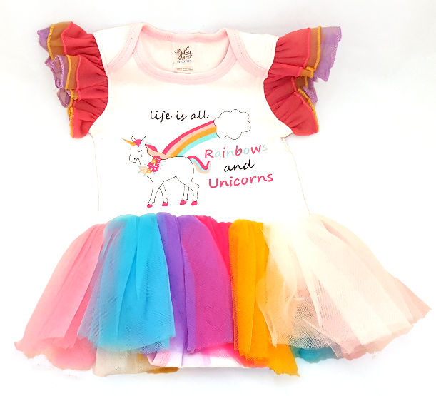 Rainbows and Unicorns Onesie