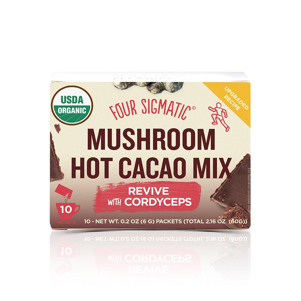 Four Sigmatic Mushroom Hot Cacao with Cordyceps x10 sachets