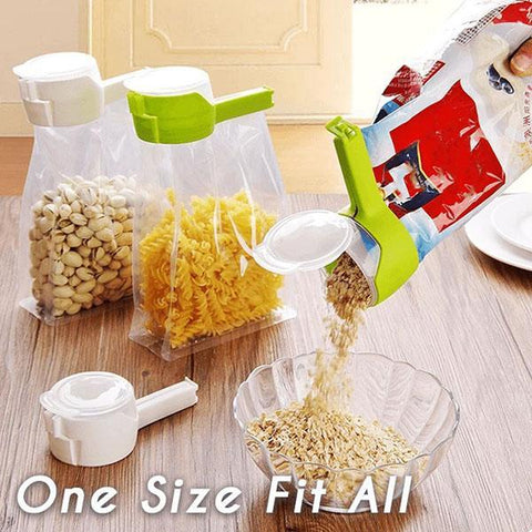 Image of Seal and Pour Food Storage Bag Clip