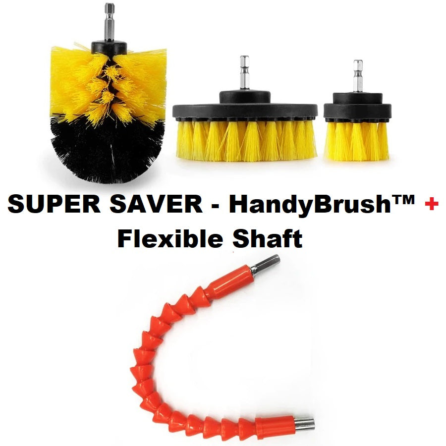HandyBrush™ Set (FREE Flexible Drill Shaft & Express Shipping)