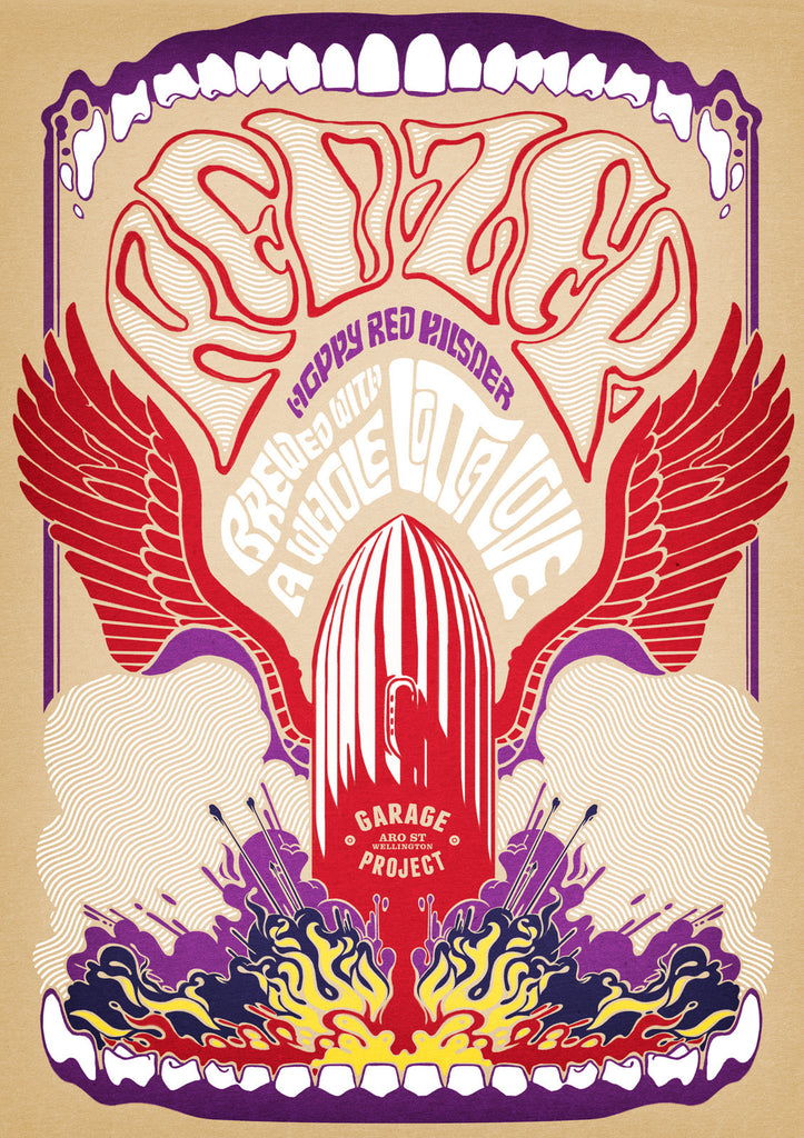 Red Zep Poster