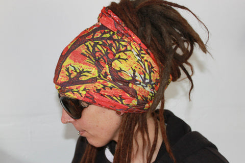Autumn Leaves Dreadlock sock sleepcap Dread protector under helmet,swim cap
