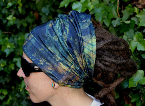 Kaleidoscope Dreadlock Headband/dread sock/wrap - Lightweight, soft, comfortable & versatile