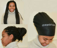 Medium sized Dreadlock Swim cap - Swimming cap for dreads, swimming hat